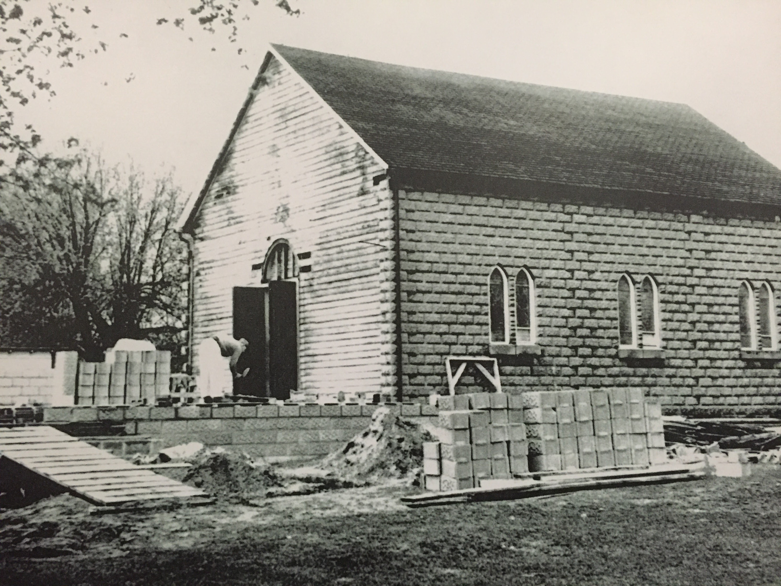 Original Church Under Construction