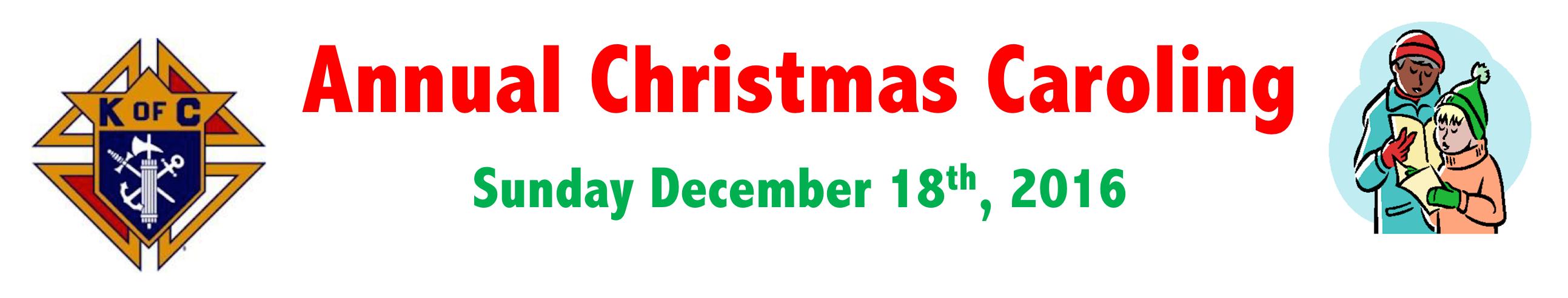 Christmas Caroling Banner