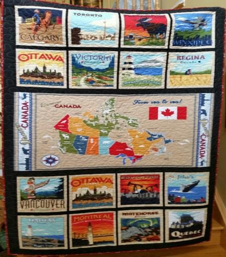 This amazing quilt was created to celebrate our Canada's 150th Anniversary by Suanne O'Neill
