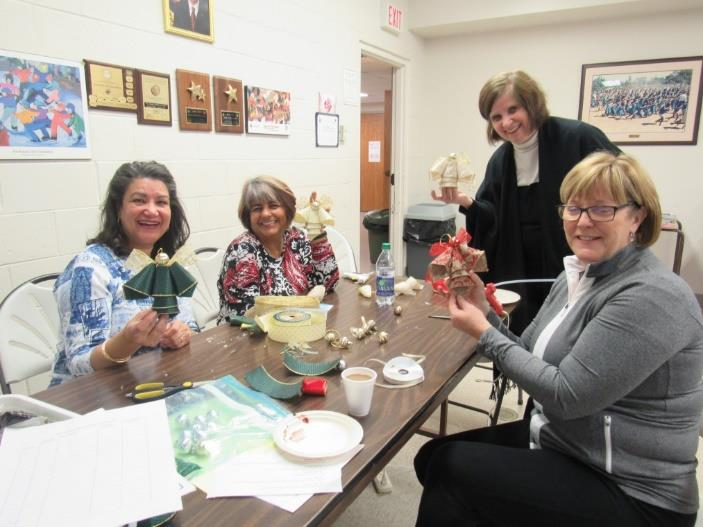 Making crafts – Angels for our Bazaar