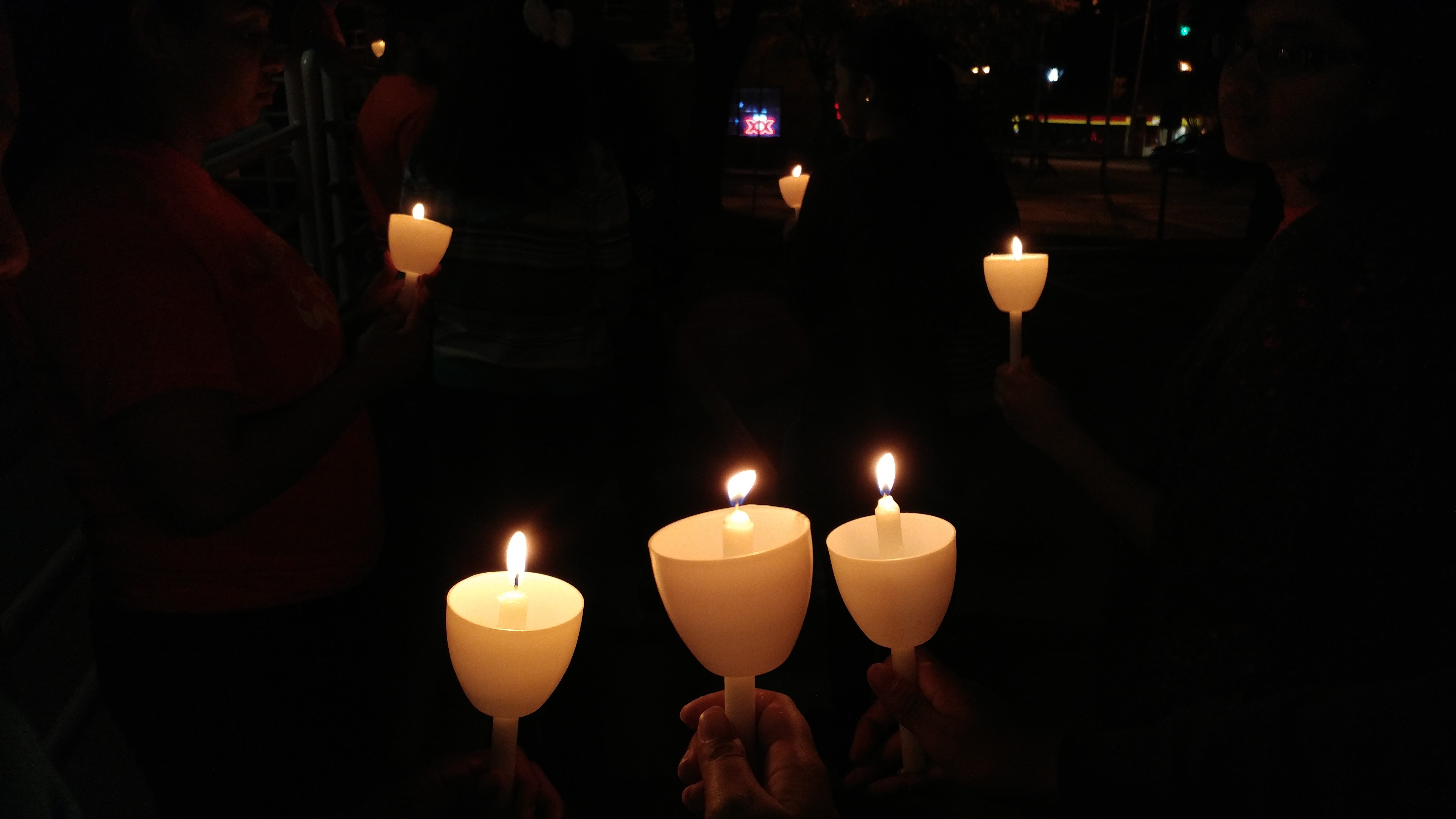 Candle procession while saying the Rosary