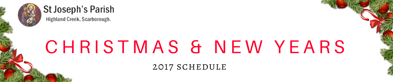 banner christmas newyear schedule