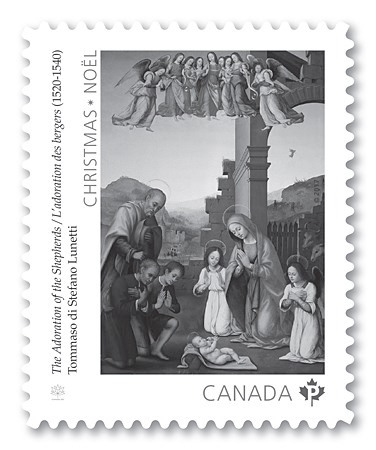 Canada Post Stamp - Adoration of the Shepherds