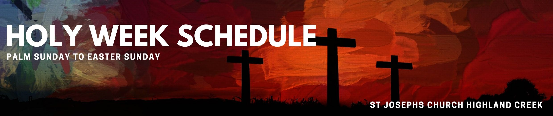 banner holy week schedule