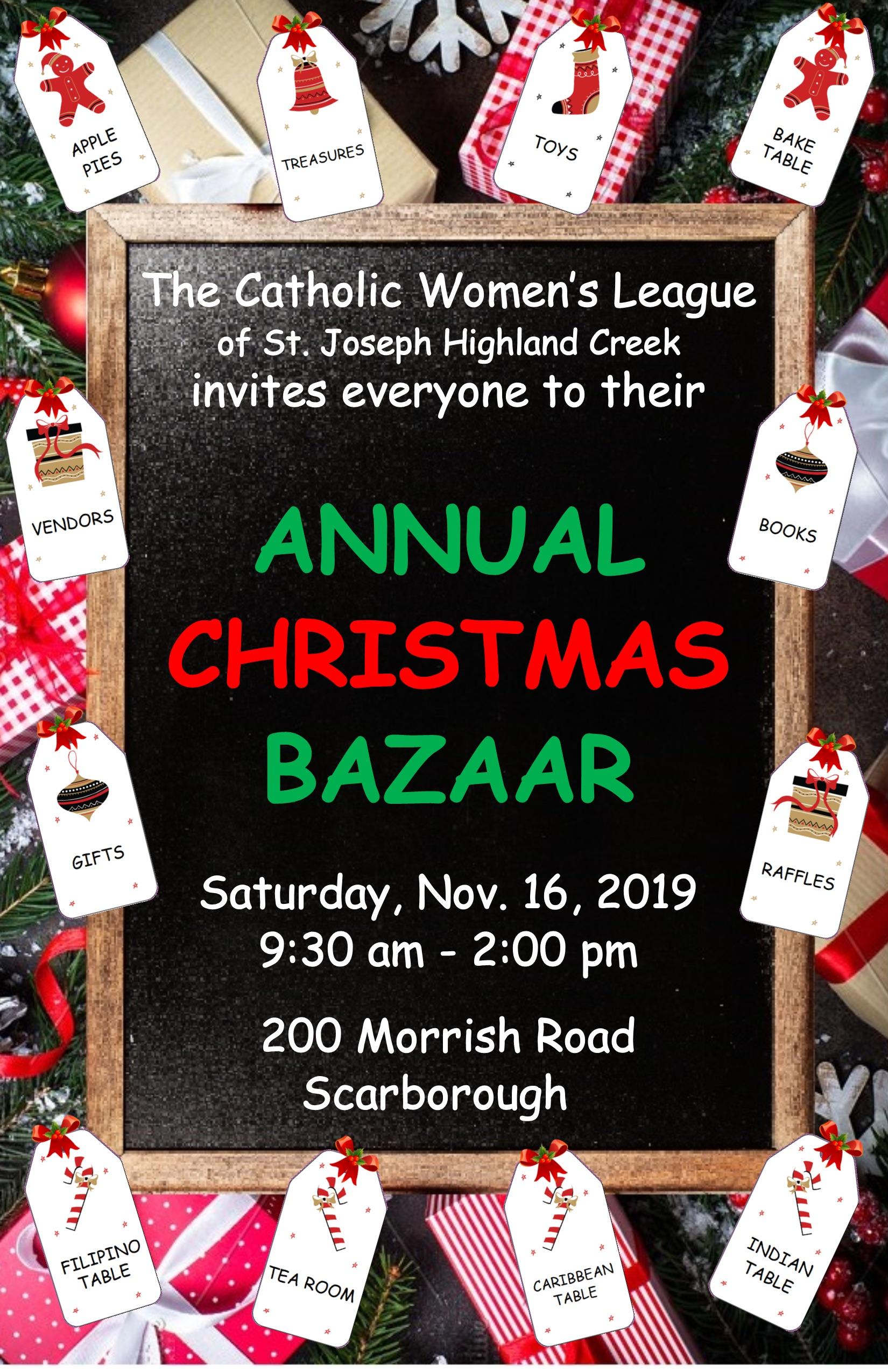 CWL Annual Bazaar 2019