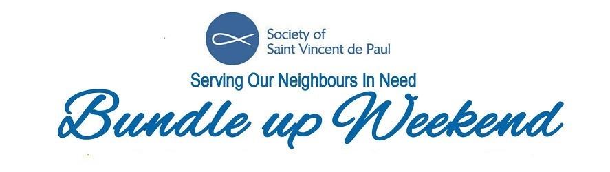 St. Vincent de Paul Bundle Up Weekend - Thank You