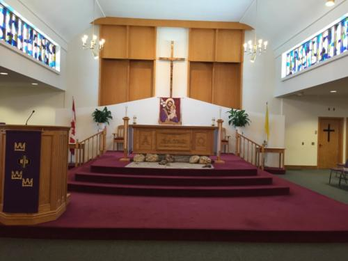 The current Church Altar