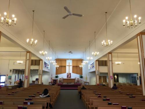 The current Church Pews